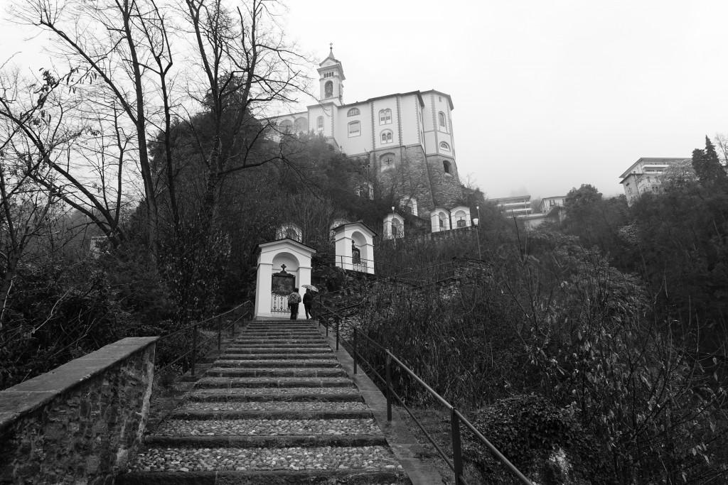 Startpunkt des heutigen Laufs unterhalb der Madonna del Sasso
