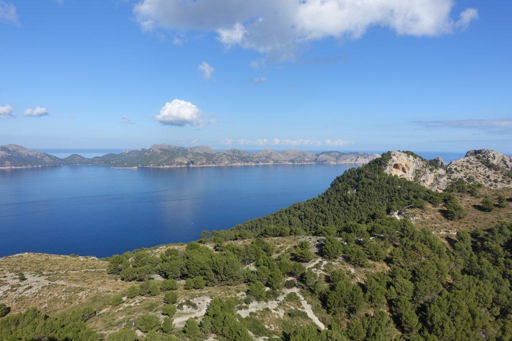 Cap de Formentor und Badia de Pollença vom Talaia d'Alcudia