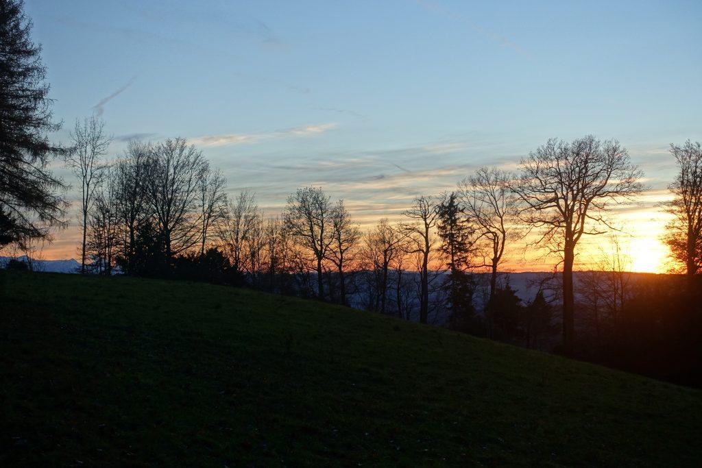 Sonnenuntergang über dem Argau