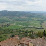 Frühlingslandschaft in der Toskana