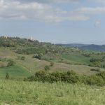 Blick von Pienza mit Ausläufer des Monte Amiata