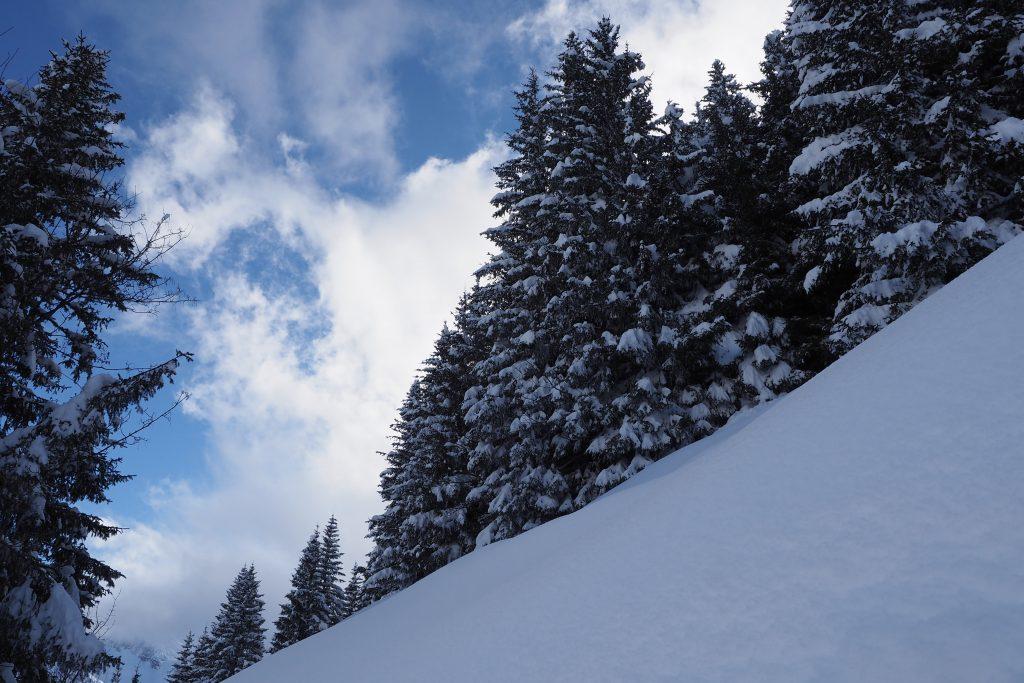 Viel Schnee und viel Sonne ergibt Traumbedingungen zum Skifahren und zum Fotografieren